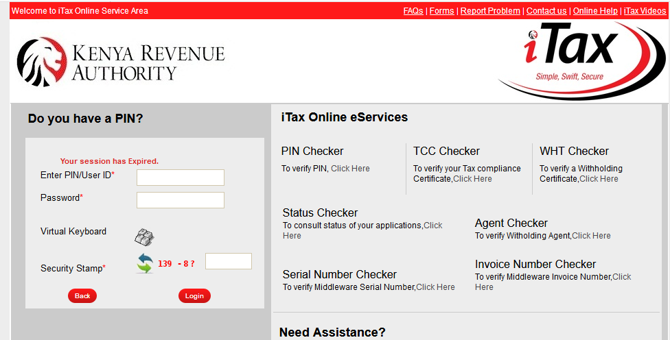 KRA PIN Application
